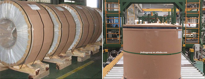 packaging of 3003 color coated aluminium coil