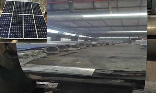 A mirror finish aluminum coil for solar concentrator