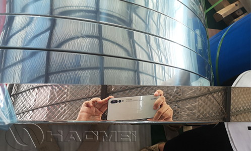 Aluminum mirror finish coil for Grille light