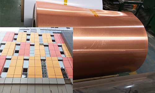 Color coated aluminum coil rolls and curtain wall in constructions