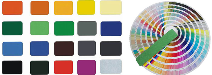 Colorcard of aluminium roofing sheet coil