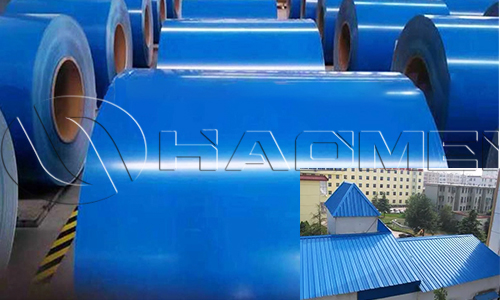 blue color coated aluminum coils for roofing sheets