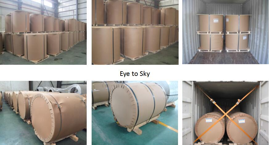 packaging of aluminum roofing coil rolls