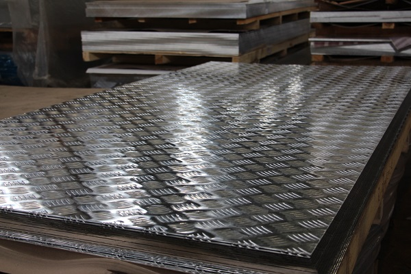 chequered aluminium sheet